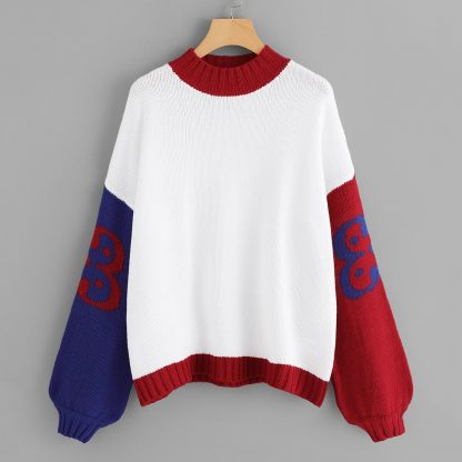 Bishop Sleeve Color Block Jumper