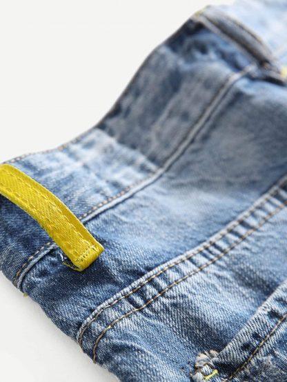 Men Destroyed Plain Jeans