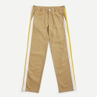 Men Color Block Straight Leg Pants