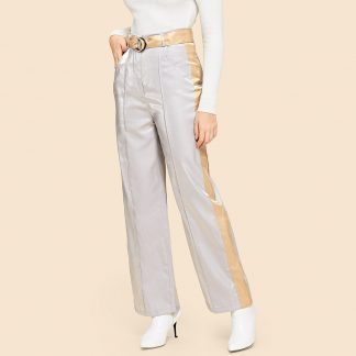 Pocket Side Straight Leg Pants