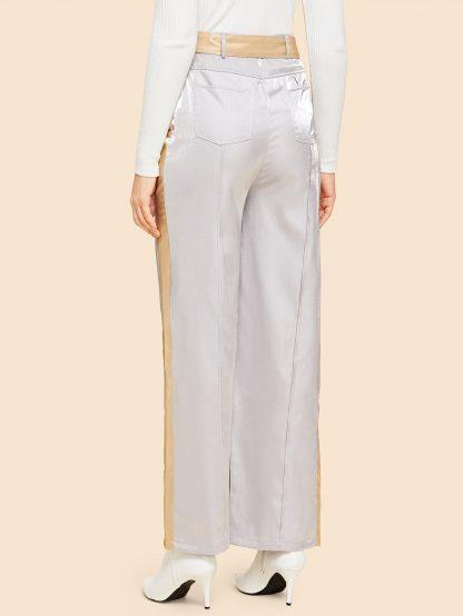 Pocket Side Straight Leg Pants