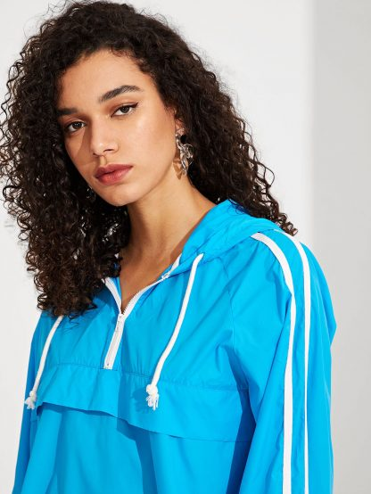Zip Up Drawstring Hoodie Jacket