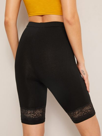Lace Insert Cycling Shorts