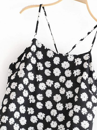 Daisy Print Criss-cross Cami Dress