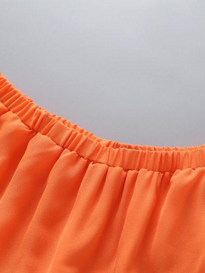 Toddler Girls Laser Cut Out Neon Orange A-line Dress