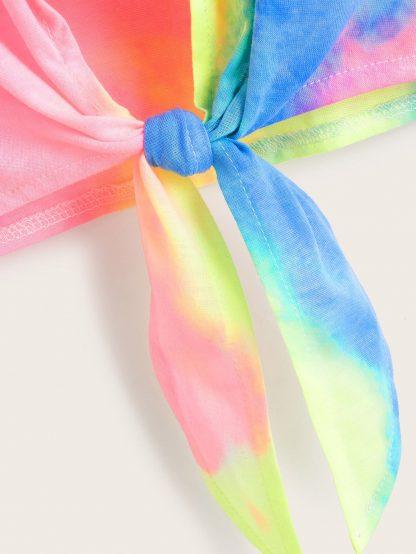 Tie Dye Knot Hem Tee