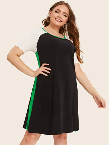 Plus Cut And Sew Midi Tee Dress