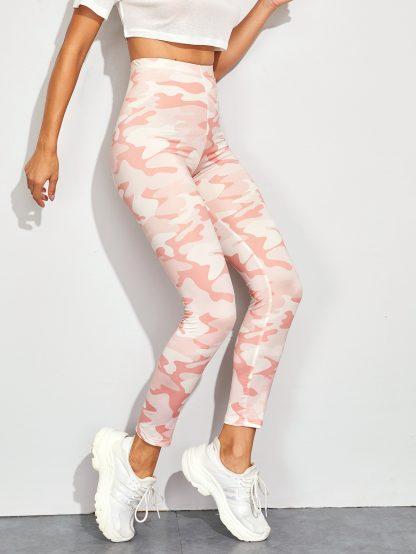 Camo Print Skinny Leggings