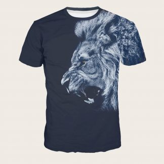 Men Lion Print Tee