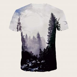 Men Forest Print Tee